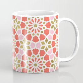 Persian Mosaic – Coral & Gold Palette Coffee Mug