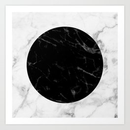 Marble Dot Collage Art Print