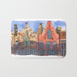 Art Print - Summer - Cozy town - summer art print - wall decor art print - wall decoration Bath Mat
