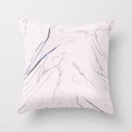 Pink Desert. Throw Pillow