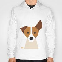 jack russell Hoodies featuring Jack Russell by Page 84 Design