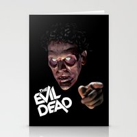 evil dead Stationery Cards featuring The Evil Dead by Dr. Eff Designs