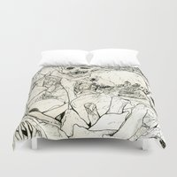 bones Duvet Covers featuring Bones by Jess Worby