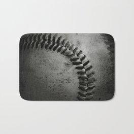 Black and white Baseball Bath Mat