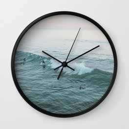 Let's Surf V Wall Clock