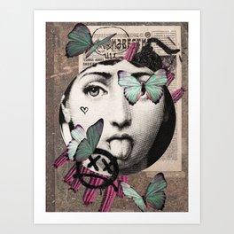fornasetti butterfly Art Print