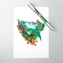 Tropical Collage Wrapping Paper