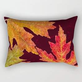 Leaves of Red Gold and Orange a Breath of Fall Rectangular Pillow