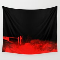 creepy Wall Tapestries featuring Creepy by Runk the Skunk