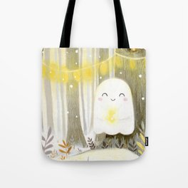 Little ghost and lantern Tote Bag