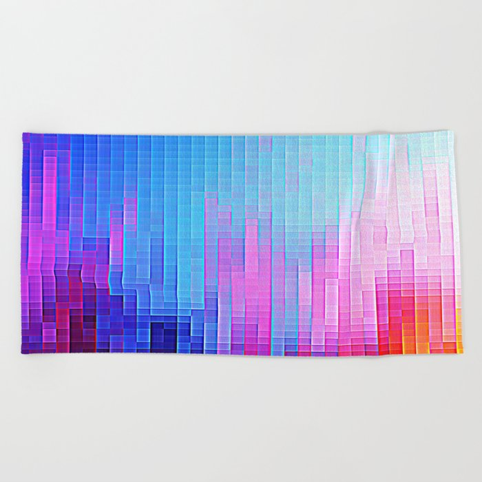 colorfuL Pixels Beach Towel