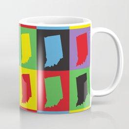 Indiana Pop Art Colorful Pattern Coffee Mug