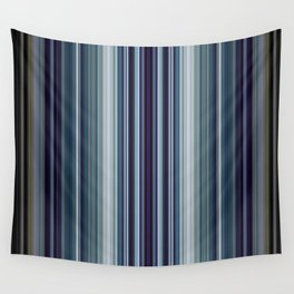 Classic Blue Decorative Stripes Wall Tapestry
