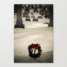 Christmas Grave Canvas Print