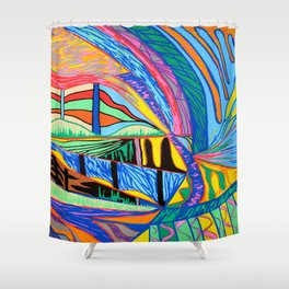 Dreamlike view Shower Curtain