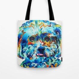 Colorful Dog Art - Lhasa Love - By Sharon Cummings Tote Bag