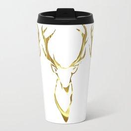 Gold Stag Travel Mug