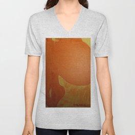 Dariusz Stolarzyn Orange, Oil Painting Unisex V-Neck