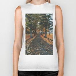 Autumn Path Biker Tank