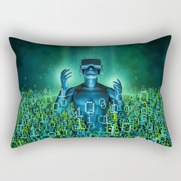 Virtual Dawn Rectangular Pillow