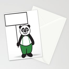 Panda Sign Stationery Cards