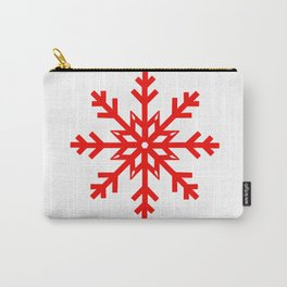 Red Snowflake, Christmas and Holiday Fantasy Collection Carry-All Pouch