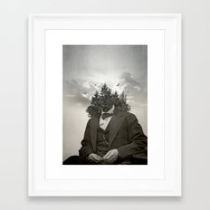Head in the clouds II Framed Art Print