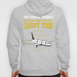 Aviation Pilot Licence Gift print 4 Forces of Flight Test Hoody