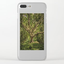 Spirits inside the wood Clear iPhone Case