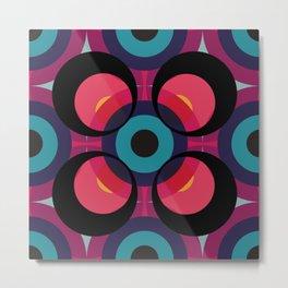 Retro Colored Circles 01 Metal Print