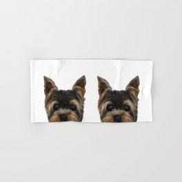 Yorkshire Terrier Mix colorDog illustration original painting print Hand & Bath Towel