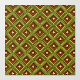 baseball pattern 8 Canvas Print
