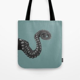 OCTOPUS - tentacle , arm , animal , single , one , spiral Tote Bag