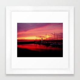 oklahoma sunset Framed Art Print