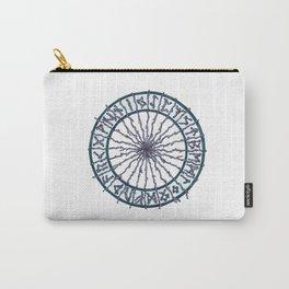 Elder Futhark Rune Wheel Carry-All Pouch