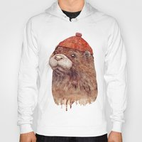 otter Hoodies featuring River Otter by Animal Crew