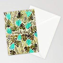 Tropical Wanderlust – Turquoise & Olive Stationery Cards