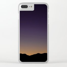 Gloaming Gradient Clear iPhone Case