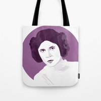princess leia Tote Bags featuring Leia by zaiure