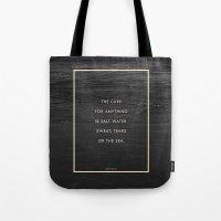 salt water Tote Bags featuring Salt Water by Galaxy Eyes