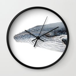Humpback whale portrait Wall Clock