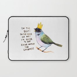 trash bird self affirmations Laptop Sleeve