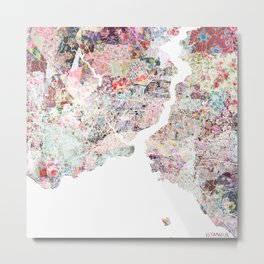 Istanbul map Metal Print