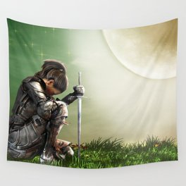 Prayer For Victory Wall Tapestry