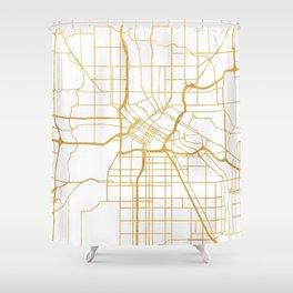 MINNEAPOLIS MINNESOTA CITY STREET MAP ART Shower Curtain