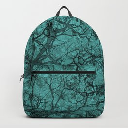 Turquoise Blue Hunting Camo Pattern Backpack