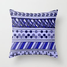 Yzor pattern 002 blue Throw Pillow