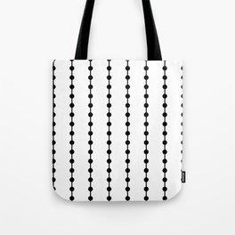 Geometric Droplets Pattern Linked Tote Bag