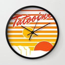 Tatooine travel Wall Clock