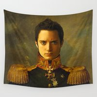 replaceface Wall Tapestries featuring Elijah Wood - replaceface by replaceface